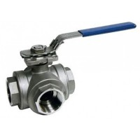 Stainless Steel Ball Valve T Port