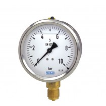 Pressure Gauge 0 to 1000 bar range, SS Case, Lower and Back Mount, Glycerine Filled