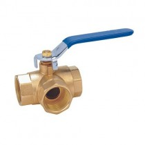 Brass T Port Ball Valve
