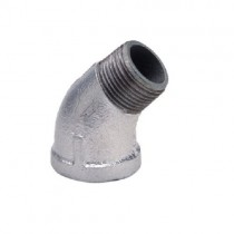 Galvanised 45 degree Male/Female Elbow
